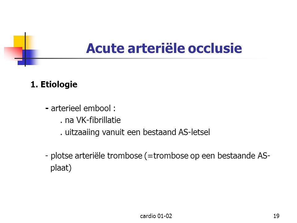 Acute arteriële occlusie
