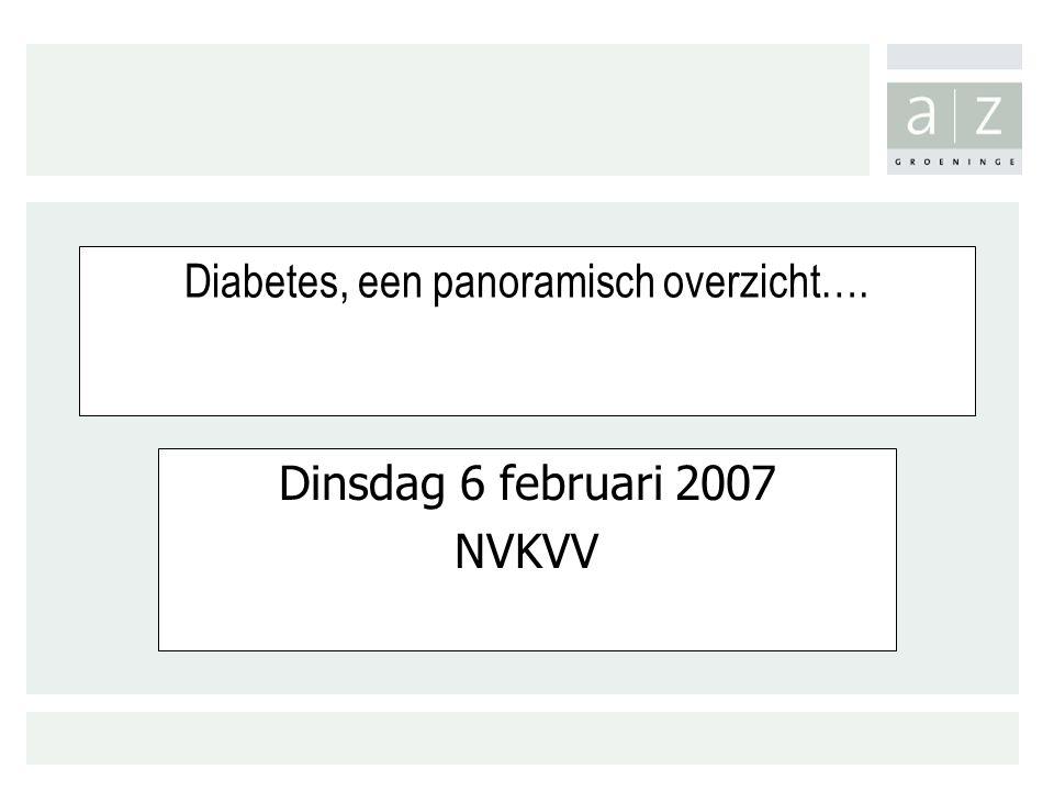 Diabetes, een panoramisch overzicht….