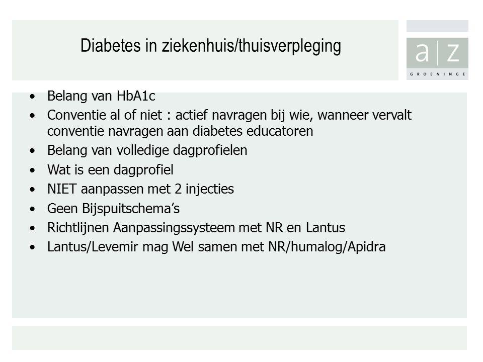 Diabetes in ziekenhuis/thuisverpleging