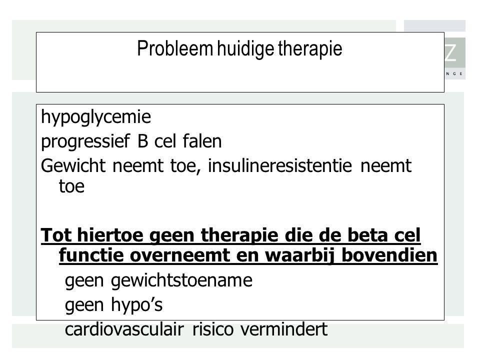 Probleem huidige therapie