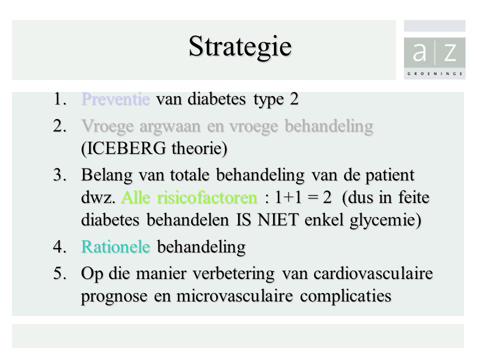 Strategie Preventie van diabetes type 2