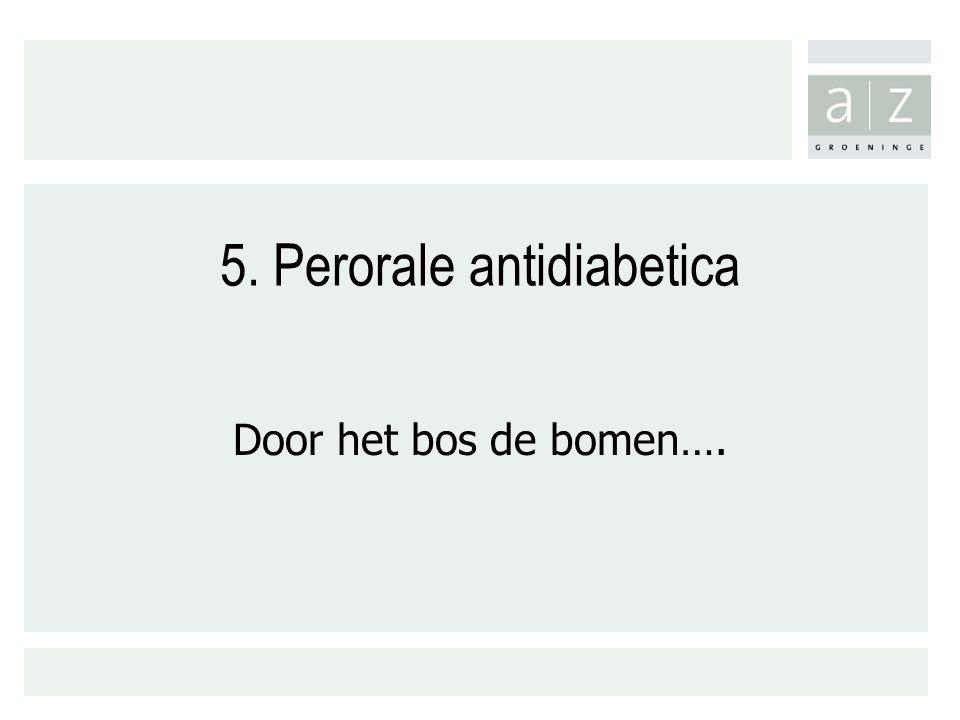 5. Perorale antidiabetica