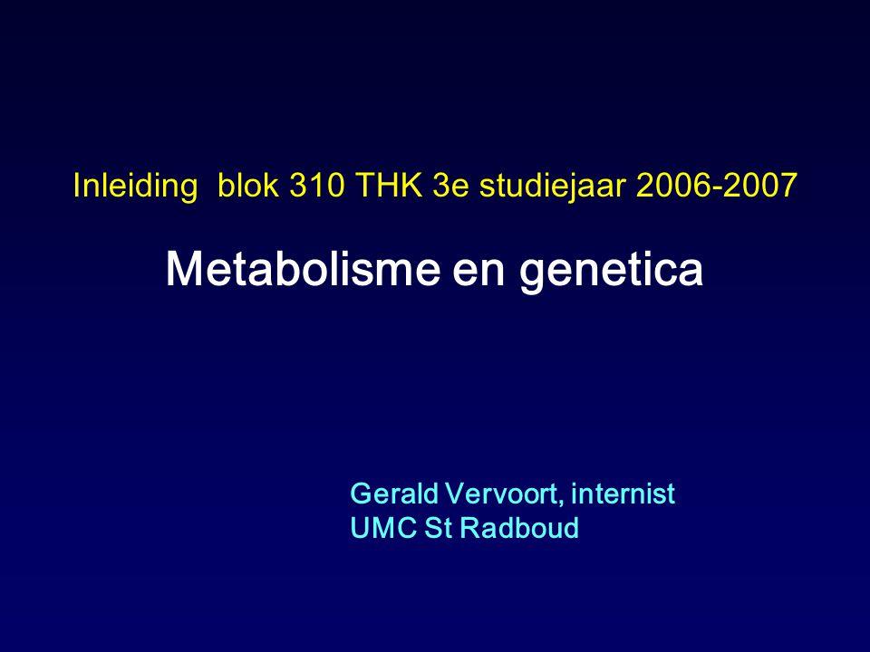 Metabolisme en genetica