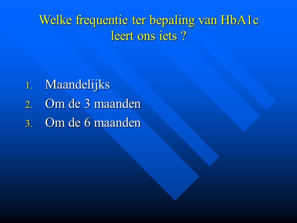Welke frequentie ter bepaling van HbA1c leert ons iets