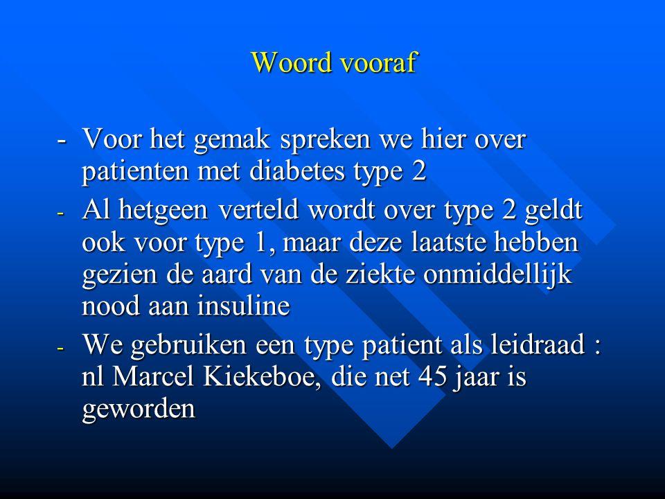 Woord vooraf - Voor het gemak spreken we hier over patienten met diabetes type 2.