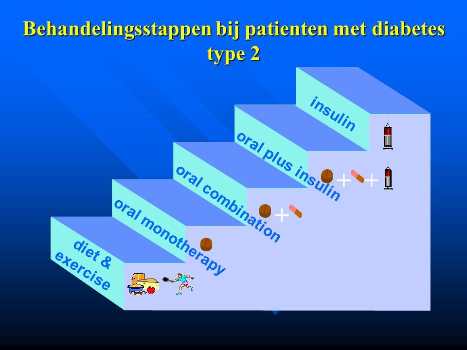 Behandelingsstappen bij patienten met diabetes type 2