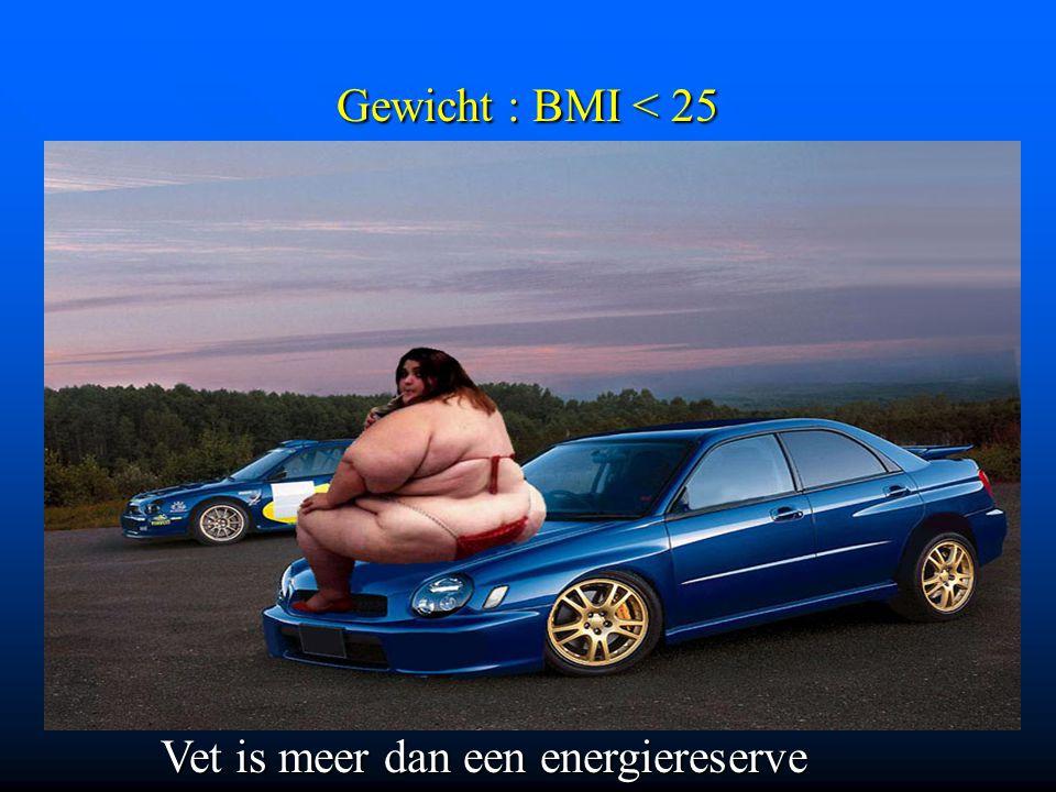 Gewicht : BMI < 25 Vet is meer dan een energiereserve