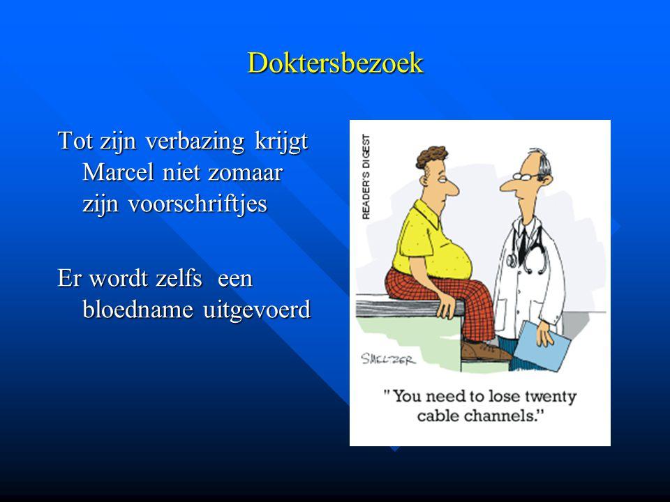 Doktersbezoek Tot zijn verbazing krijgt Marcel niet zomaar zijn voorschriftjes.