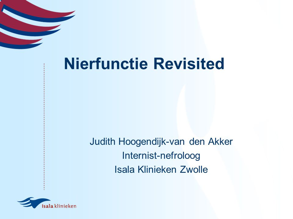 Nierfunctie Revisited