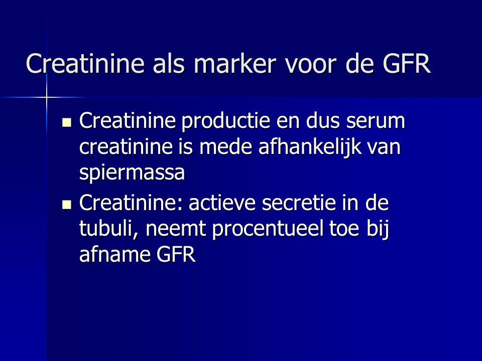 Creatinine als marker voor de GFR