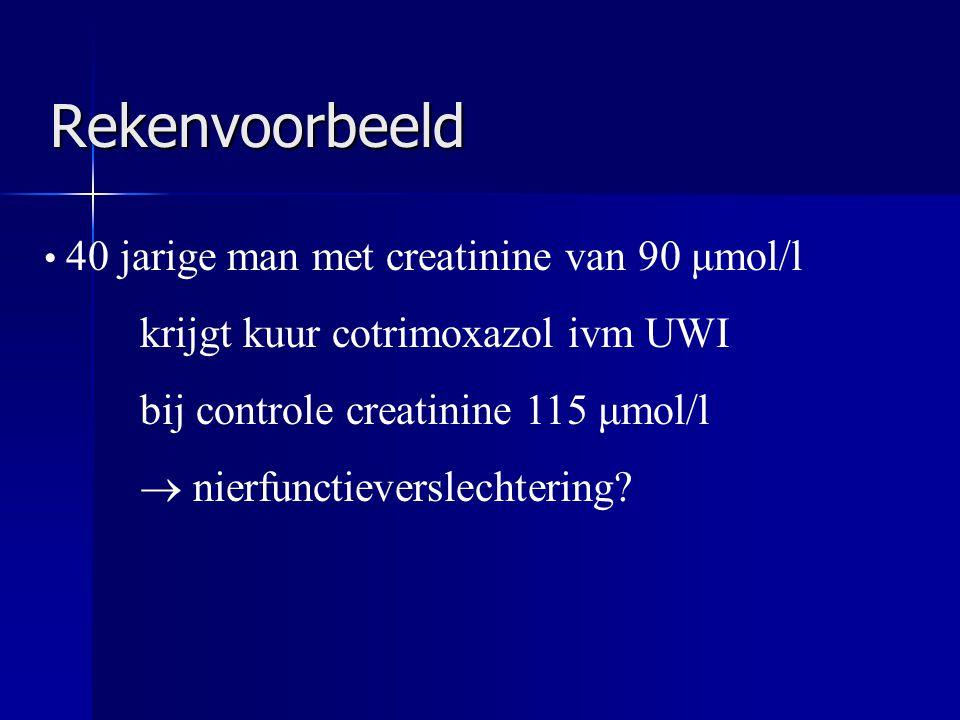 Rekenvoorbeeld krijgt kuur cotrimoxazol ivm UWI