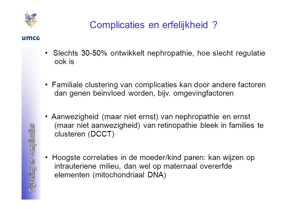 Complicaties en erfelijkheid