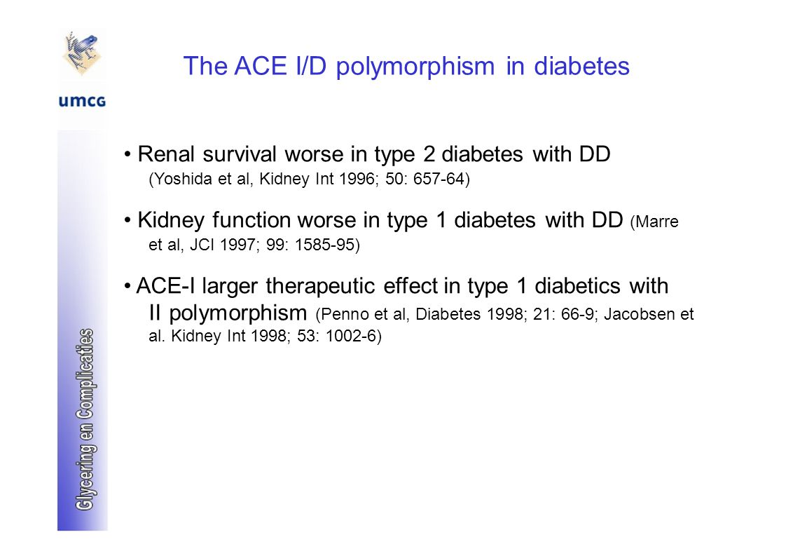 The ACE I/D polymorphism in diabetes