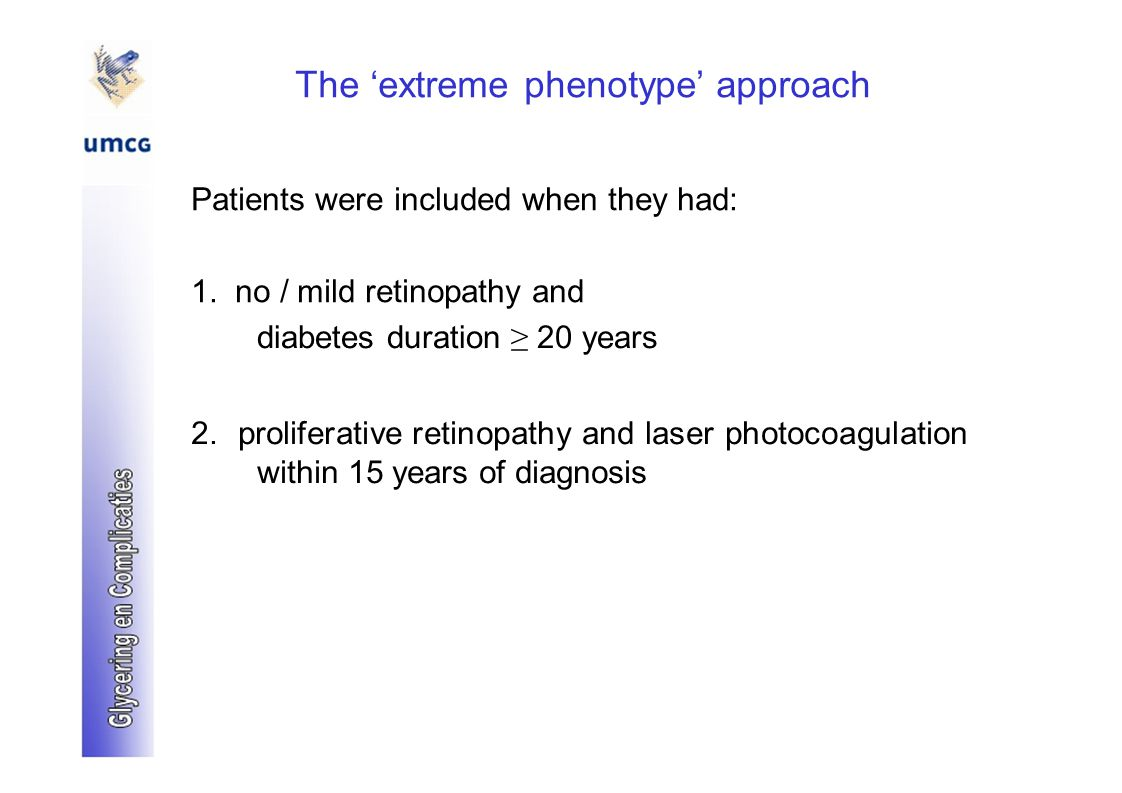 The 'extreme phenotype' approach