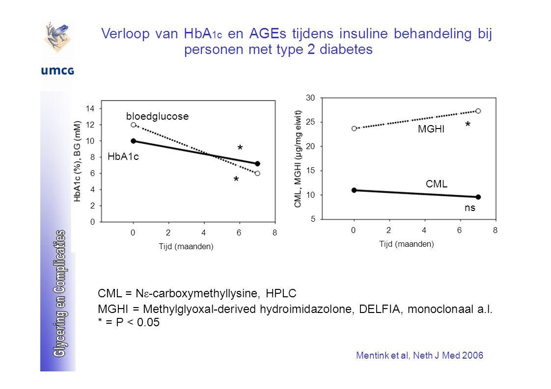 Verloop van HbA1c en AGEs tijdens insuline behandeling bij personen met type 2 diabetes