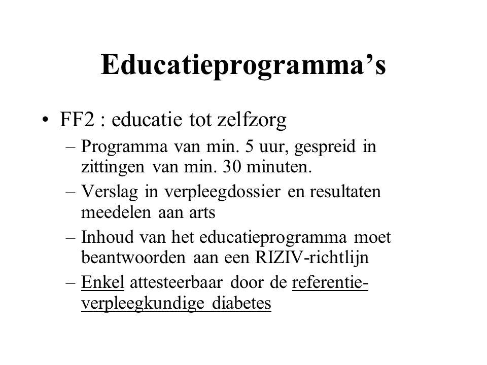 Educatieprogramma's FF2 : educatie tot zelfzorg