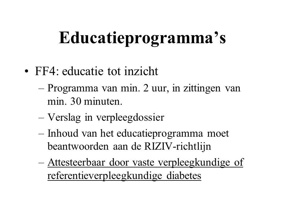 Educatieprogramma's FF4: educatie tot inzicht