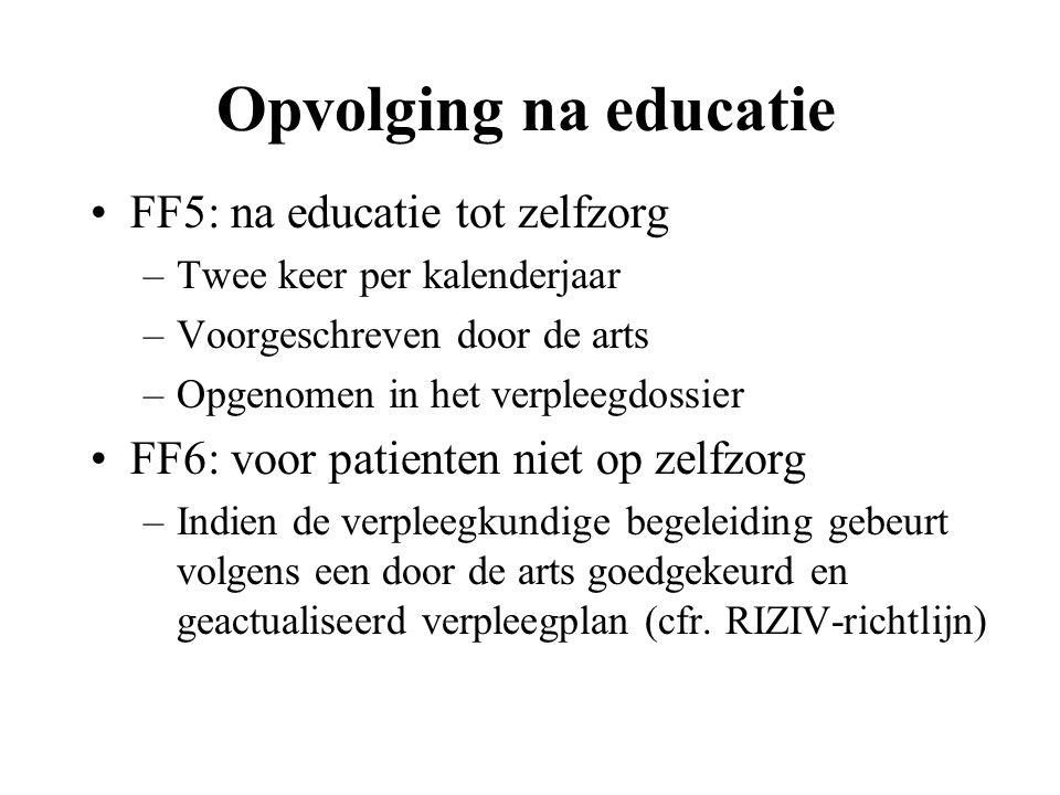 Opvolging na educatie FF5: na educatie tot zelfzorg
