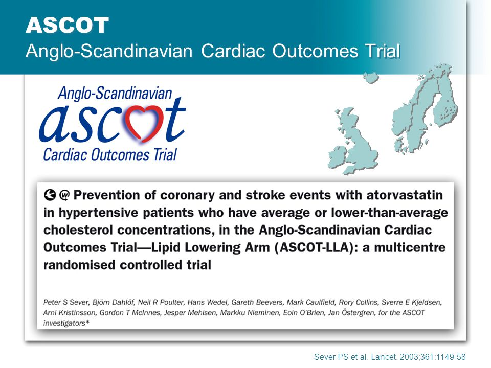 ASCOT Anglo-Scandinavian Cardiac Outcomes Trial
