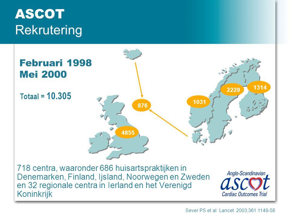ASCOT Rekrutering Februari 1998 Mei 2000 Totaal = 10.305