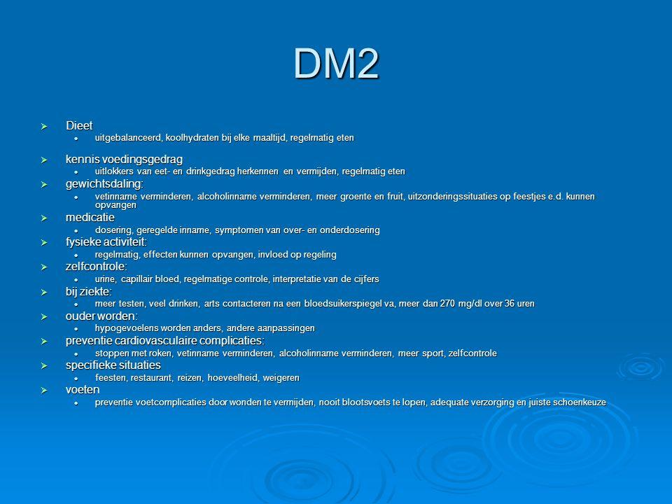 DM2 Dieet kennis voedingsgedrag gewichtsdaling: medicatie