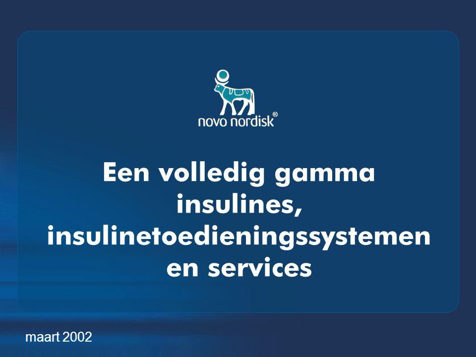 Een volledig gamma insulines, insulinetoedieningssystemen en services