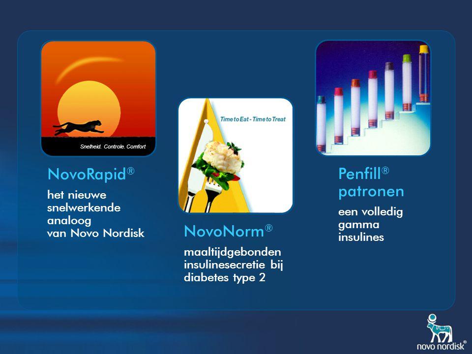 NovoRapid® Penfill® patronen NovoNorm®