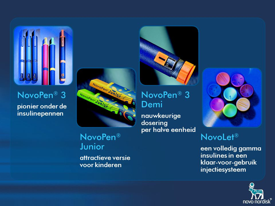 NovoPen® 3 NovoPen® 3 Demi NovoPen® Junior NovoLet®