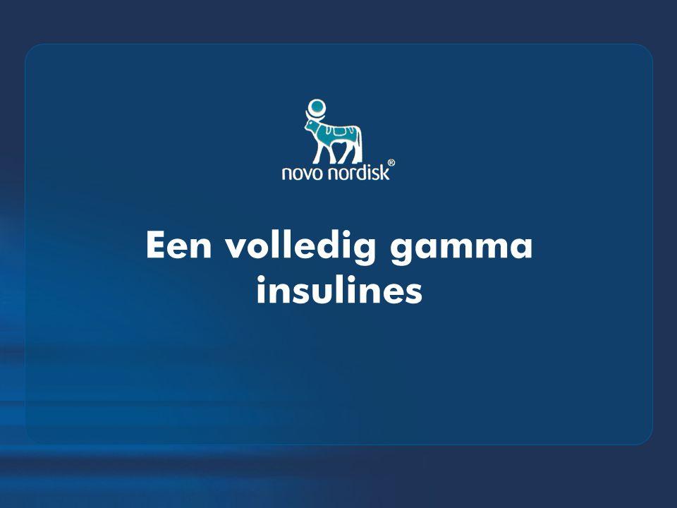 Een volledig gamma insulines