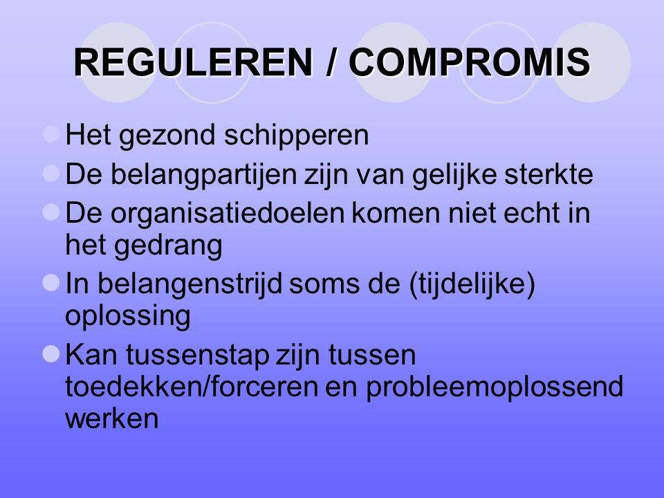 REGULEREN / COMPROMIS Het gezond schipperen