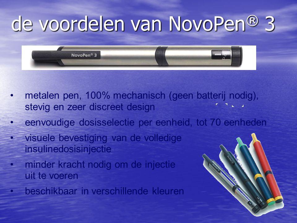 de voordelen van NovoPen® 3