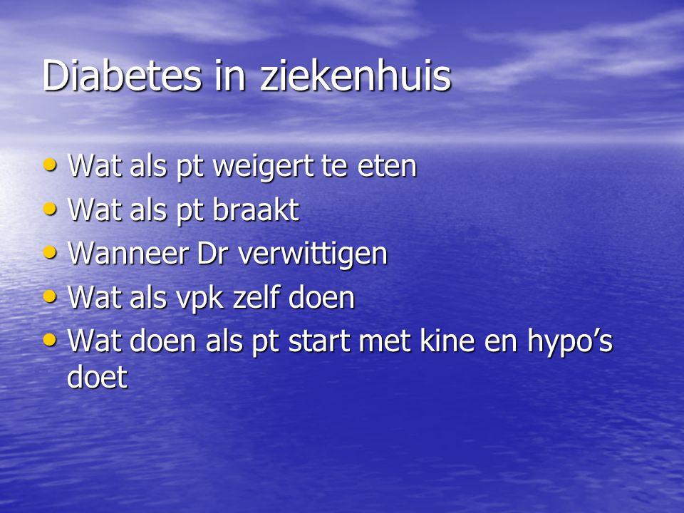 Diabetes in ziekenhuis