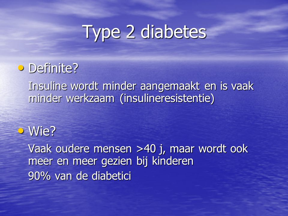 Type 2 diabetes Definite