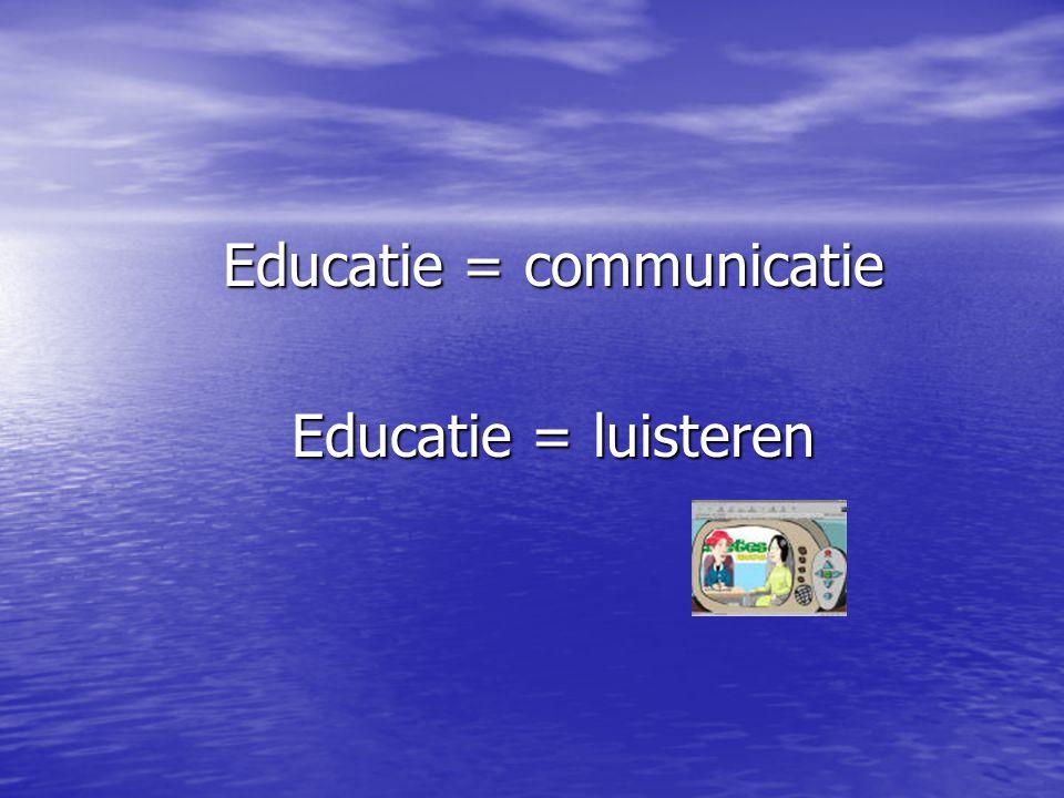 Educatie = communicatie