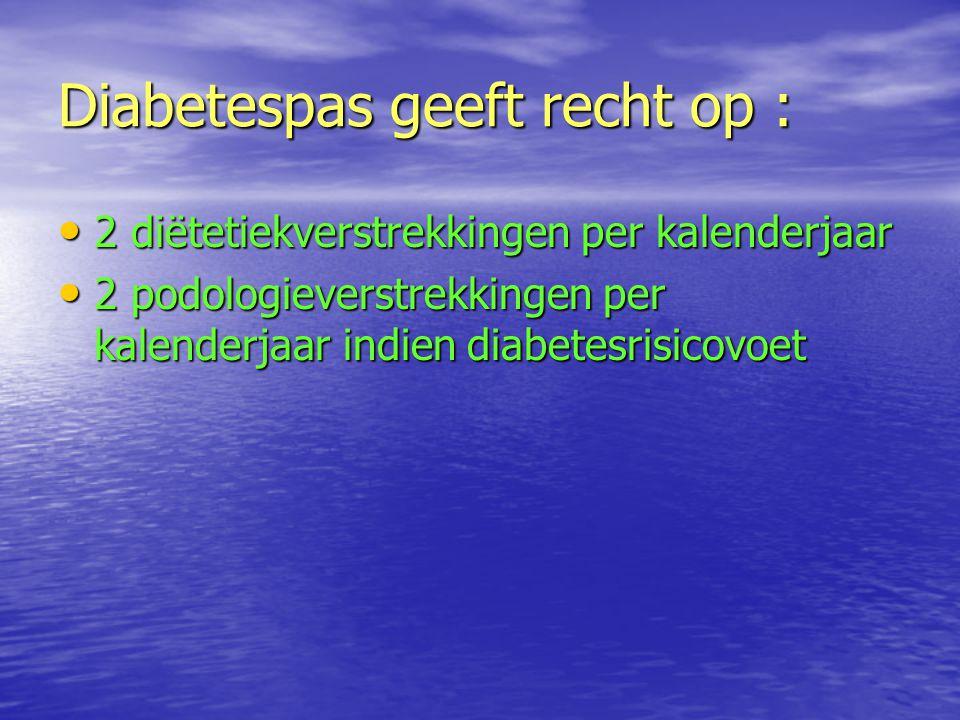 Diabetespas geeft recht op :
