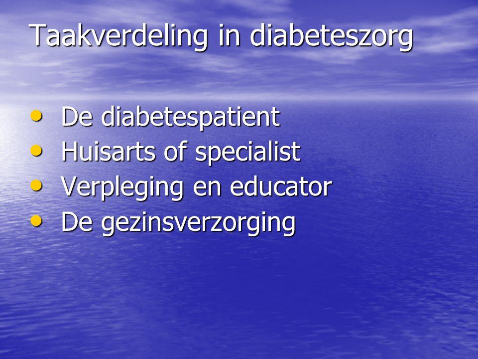 Taakverdeling in diabeteszorg