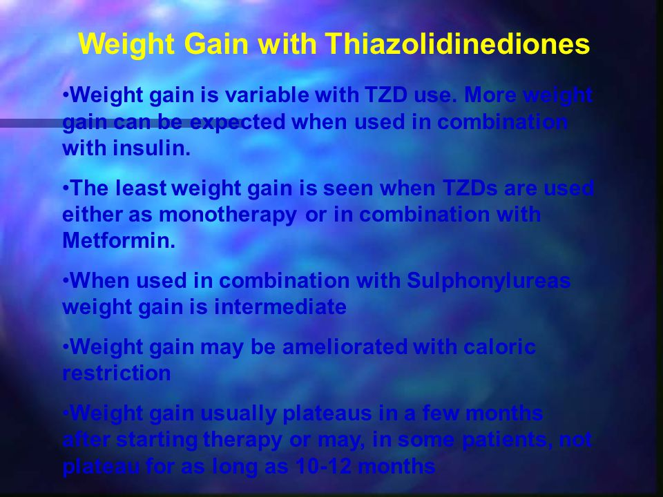 Weight Gain with Thiazolidinediones