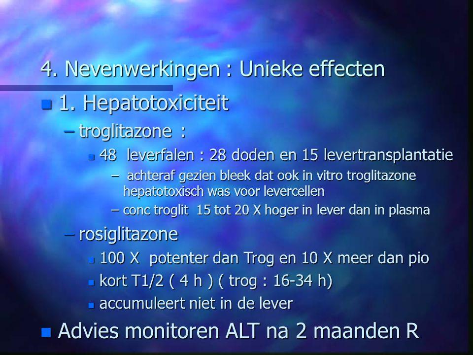 4. Nevenwerkingen : Unieke effecten