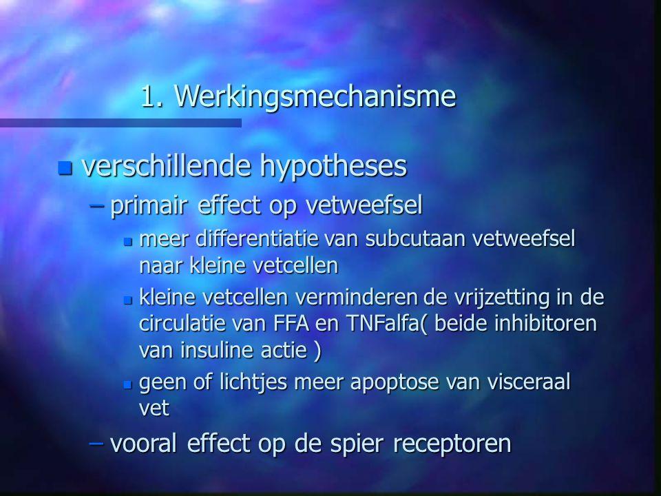 verschillende hypotheses