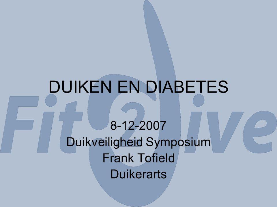 8-12-2007 Duikveiligheid Symposium Frank Tofield Duikerarts