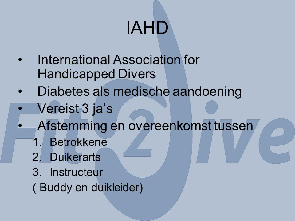 IAHD International Association for Handicapped Divers