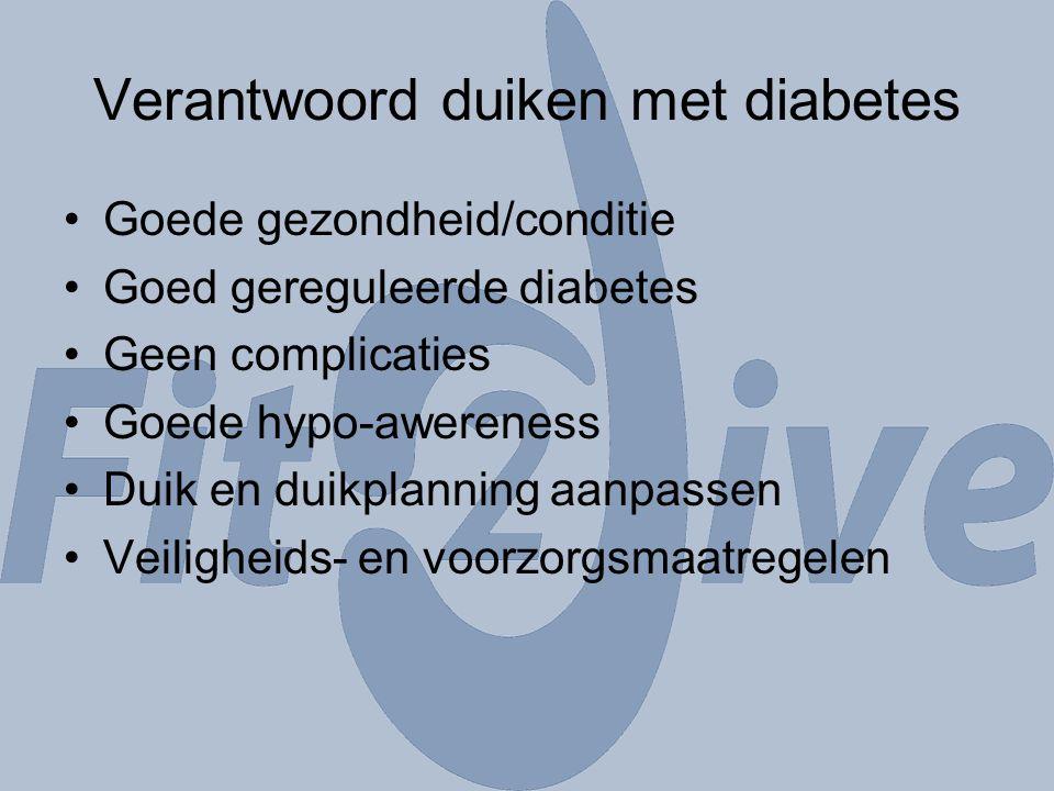 Verantwoord duiken met diabetes
