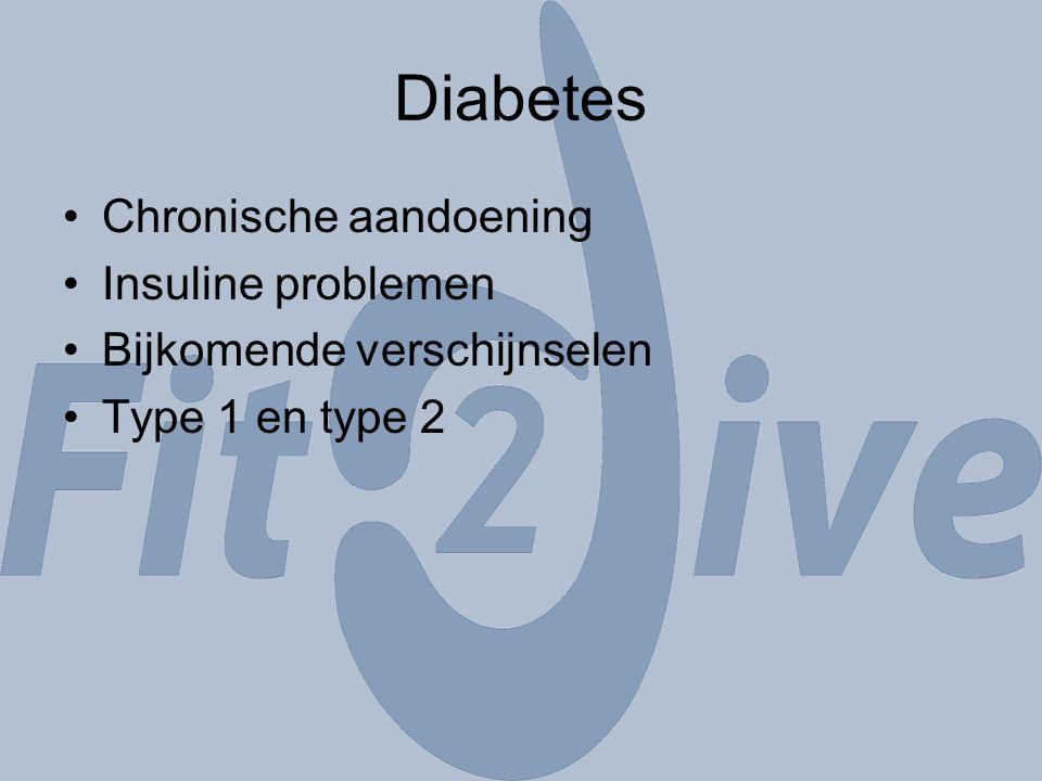 Diabetes Chronische aandoening Insuline problemen