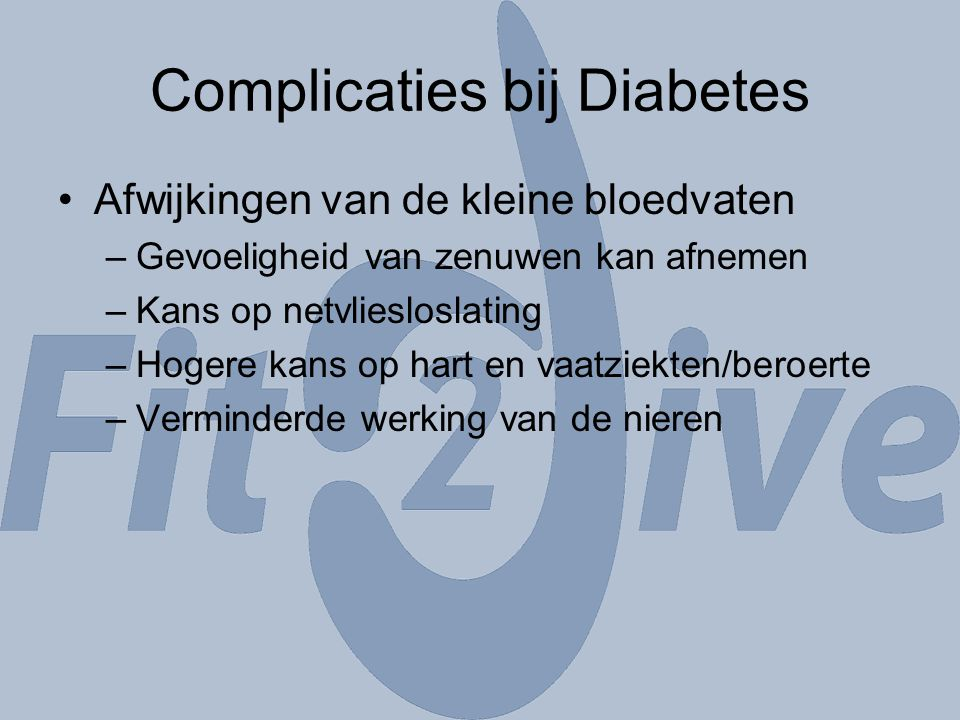 Complicaties bij Diabetes