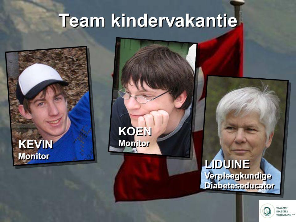Team kindervakantie KOEN Monitor KEVIN Monitor LIDUINE Verpleegkundige
