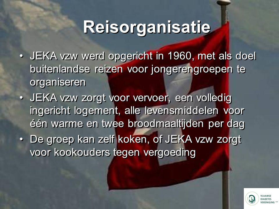 Reisorganisatie JEKA vzw werd opgericht in 1960, met als doel buitenlandse reizen voor jongerengroepen te organiseren.