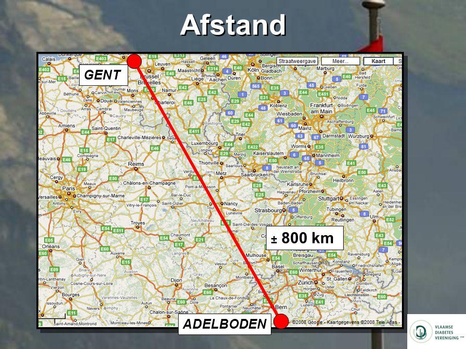 Afstand GENT ± 800 km ADELBODEN