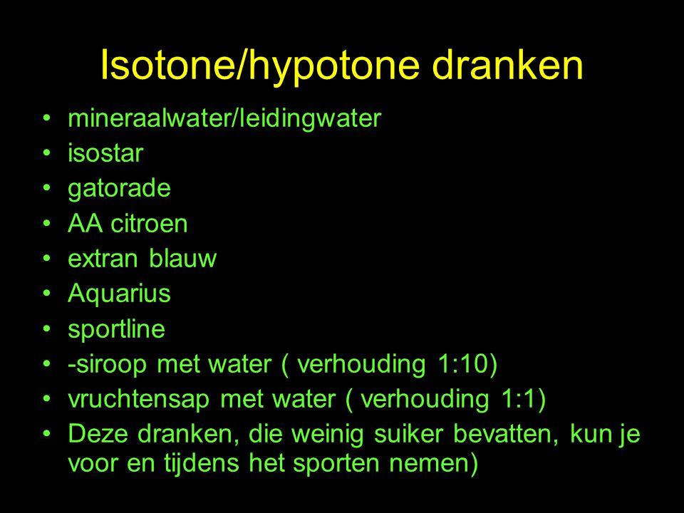 Isotone/hypotone dranken
