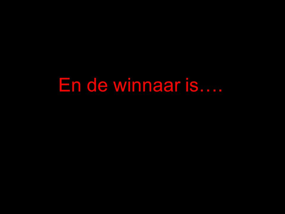 En de winnaar is….