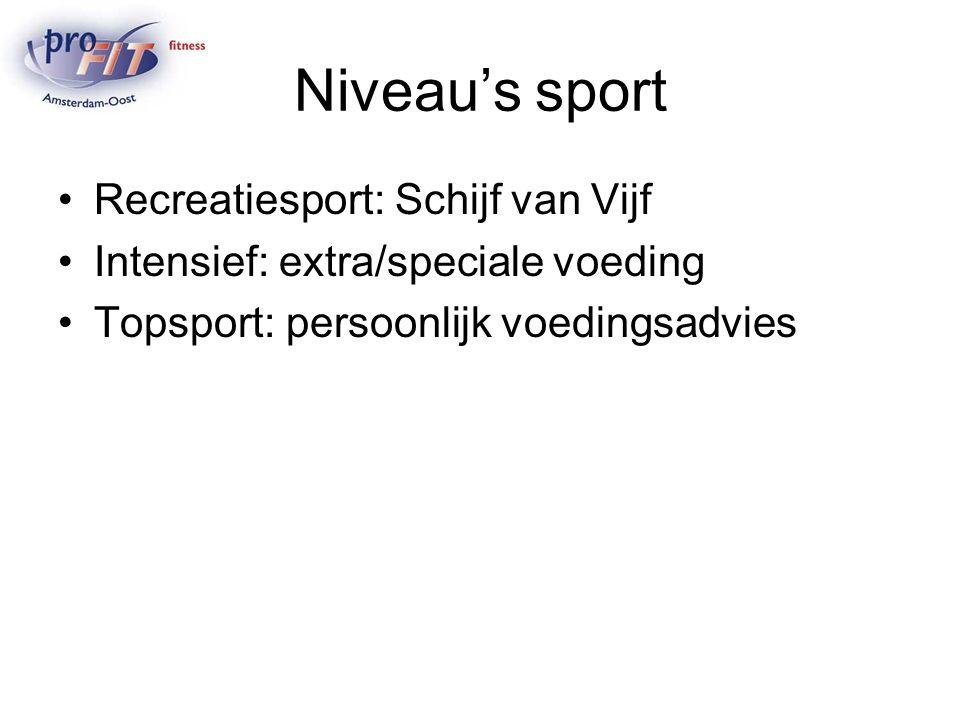 Niveau's sport Recreatiesport: Schijf van Vijf